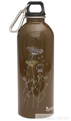 Earthlust Stainless Steel Water Bottle 1000ml - Dried Flowers