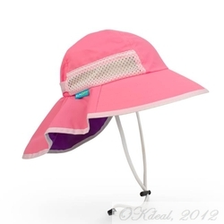 KIDS' PLAY HAT (UPF 50+ SUN HAT) - Pink/Grape(Sunday Afternoons)