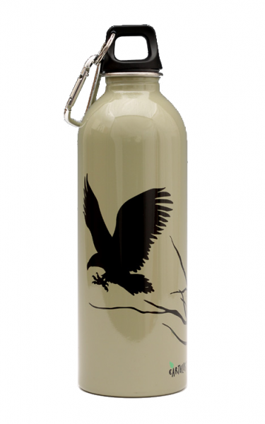 Earthlust Stainless Steel Water Bottle 1000ml - Hawk Beige